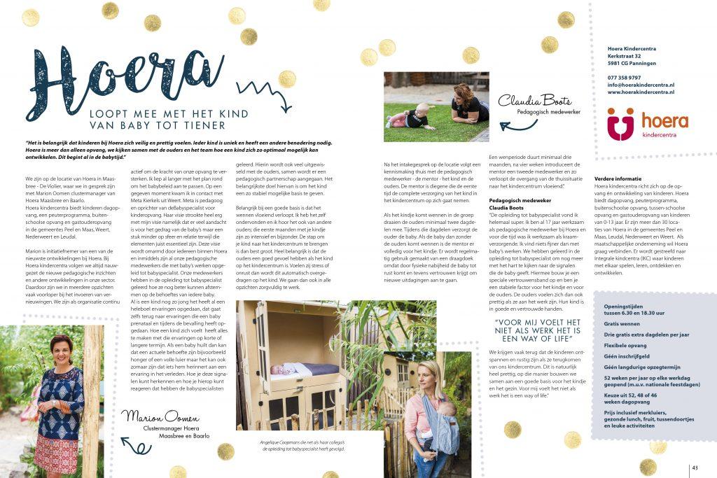 deBabyspecialist bij Hoera Kindercentra - FIJN Magazine 2017 - 3